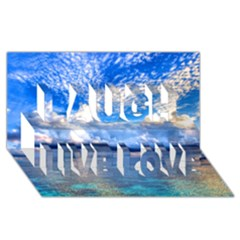 Maldives 1 Laugh Live Love 3d Greeting Card (8x4)  by trendistuff