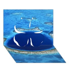 Great Blue Hole 2 Clover 3d Greeting Card (7x5)  by trendistuff