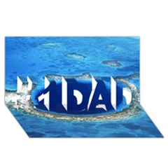 Great Blue Hole 2 #1 Dad 3d Greeting Card (8x4)  by trendistuff