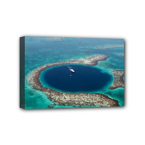 Great Blue Hole 1 Mini Canvas 6  X 4  by trendistuff