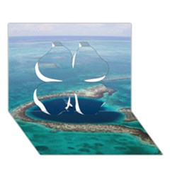 Great Blue Hole 1 Clover 3d Greeting Card (7x5)  by trendistuff