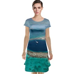 Great Blue Hole 1 Cap Sleeve Nightdresses by trendistuff
