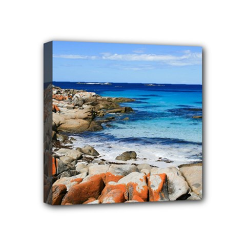Bay Of Fires Mini Canvas 4  X 4  by trendistuff
