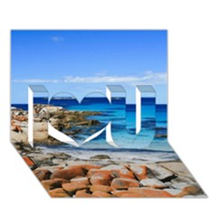 Bay Of Fires I Love You 3d Greeting Card (7x5)  by trendistuff
