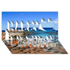 Bay Of Fires Happy Birthday 3d Greeting Card (8x4)  by trendistuff