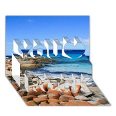 Bay Of Fires You Rock 3d Greeting Card (7x5)  by trendistuff