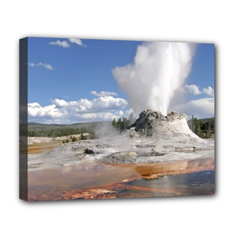 Yellowstone Castle Deluxe Canvas 20  X 16   by trendistuff