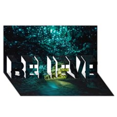Waitomo Glowworm Believe 3d Greeting Card (8x4)  by trendistuff