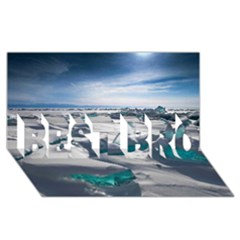 Turquoise Ice Best Bro 3d Greeting Card (8x4)  by trendistuff