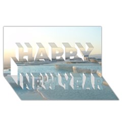 Travertine Pools Happy New Year 3d Greeting Card (8x4)  by trendistuff