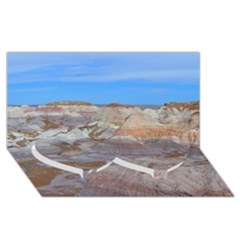 Painted Desert Twin Heart Bottom 3d Greeting Card (8x4)  by trendistuff