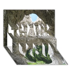 Limestone Formations Thank You 3d Greeting Card (7x5)  by trendistuff