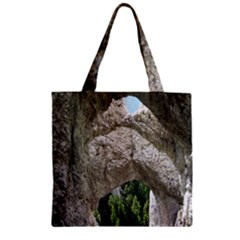 Limestone Formations Zipper Grocery Tote Bags by trendistuff