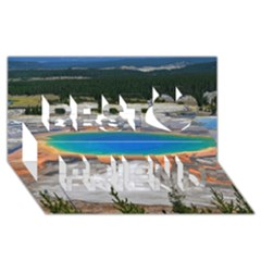 Grand Prismatic Best Friends 3d Greeting Card (8x4)  by trendistuff
