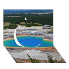 Grand Prismatic Circle 3d Greeting Card (7x5)  by trendistuff