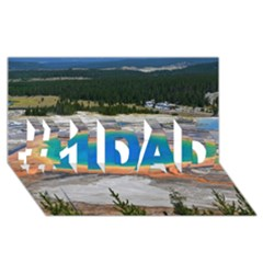 Grand Prismatic #1 Dad 3d Greeting Card (8x4)  by trendistuff
