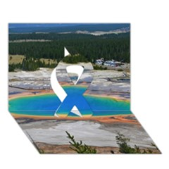 Grand Prismatic Ribbon 3d Greeting Card (7x5)  by trendistuff
