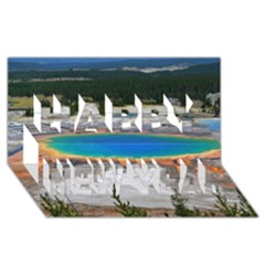 Grand Prismatic Happy New Year 3d Greeting Card (8x4)  by trendistuff