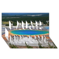 Grand Prismatic Laugh Live Love 3d Greeting Card (8x4)  by trendistuff