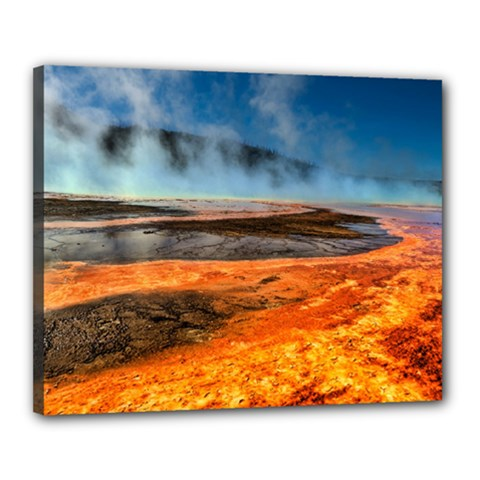 Fire River Canvas 20  X 16  by trendistuff