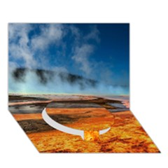 Fire River Circle Bottom 3d Greeting Card (7x5)  by trendistuff