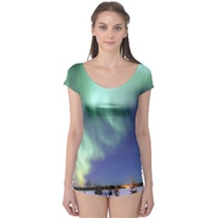 Aurora Borealis Short Sleeve Leotard by trendistuff