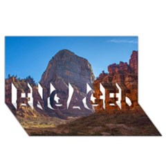 Zion National Park Engaged 3d Greeting Card (8x4)  by trendistuff