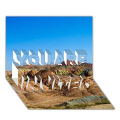 Zhangye Danxia You Are Invited 3d Greeting Card (7x5)  by trendistuff