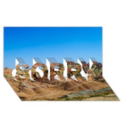 Zhangye Danxia Sorry 3d Greeting Card (8x4)
