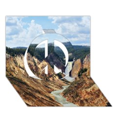 Yellowstone Gc Peace Sign 3d Greeting Card (7x5)  by trendistuff