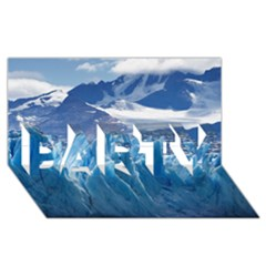 Upsala Glacier Party 3d Greeting Card (8x4)  by trendistuff