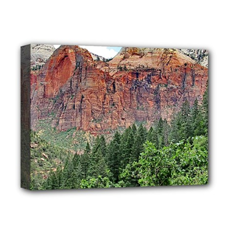 Upper Emerald Trail Deluxe Canvas 16  X 12   by trendistuff