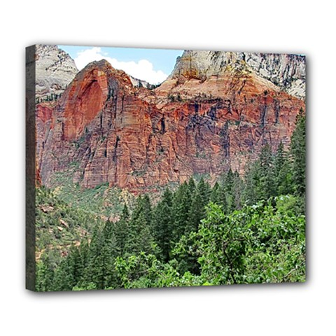 Upper Emerald Trail Deluxe Canvas 24  X 20   by trendistuff