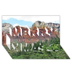Upper Emerald Trail Merry Xmas 3d Greeting Card (8x4)