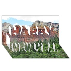 Upper Emerald Trail Happy New Year 3d Greeting Card (8x4)  by trendistuff