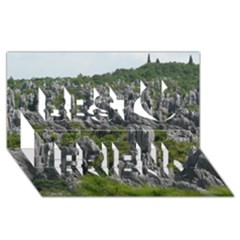 Stone Forest 1 Best Friends 3d Greeting Card (8x4)