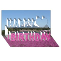 Shibazakura Happy Birthday 3d Greeting Card (8x4)  by trendistuff