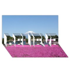 Shibazakura Believe 3d Greeting Card (8x4)  by trendistuff