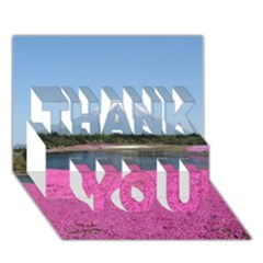Shibazakura Thank You 3d Greeting Card (7x5)  by trendistuff