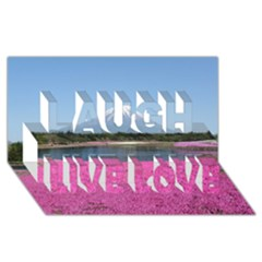 Shibazakura Laugh Live Love 3d Greeting Card (8x4)  by trendistuff