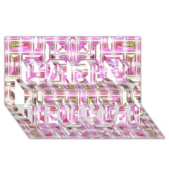 Modern Pattern Factory 01 Happy New Year 3d Greeting Card (8x4)  by MoreColorsinLife