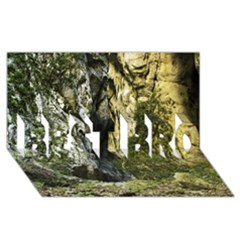 Mountain Path Best Bro 3d Greeting Card (8x4)  by trendistuff