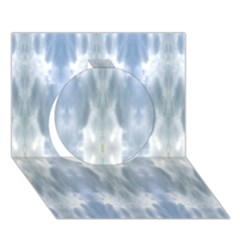 Ice Crystals Abstract Pattern Circle 3d Greeting Card (7x5)  by Costasonlineshop