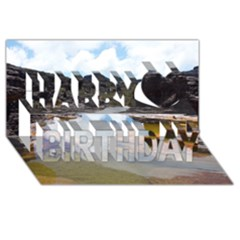 Mount Roraima 1 Happy Birthday 3d Greeting Card (8x4)  by trendistuff