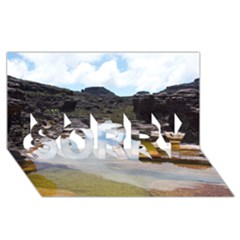 Mount Roraima 1 Sorry 3d Greeting Card (8x4)  by trendistuff
