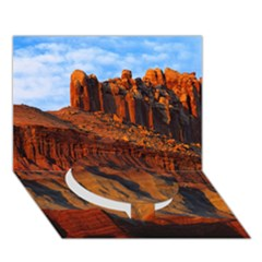 Grand Canyon 3 Circle Bottom 3d Greeting Card (7x5)  by trendistuff