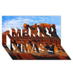Grand Canyon 3 Merry Xmas 3d Greeting Card (8x4)  by trendistuff
