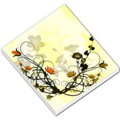 Wonderful Flowers With Leaves On Soft Background Small Memo Pads by FantasyWorld7