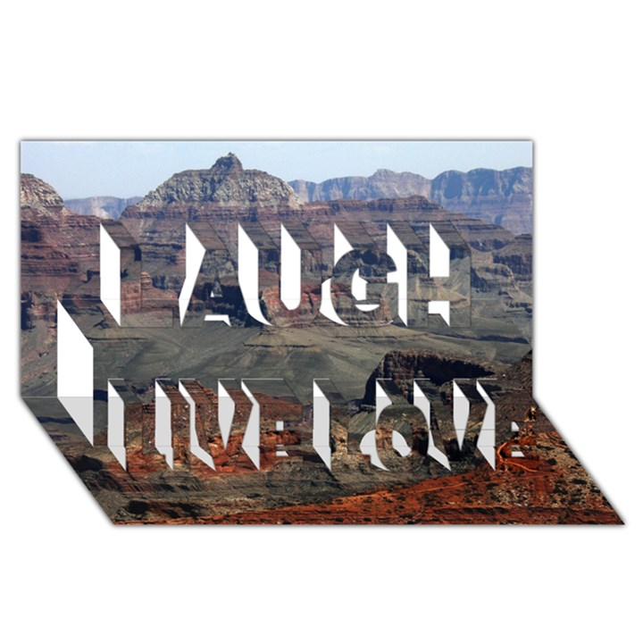 GRAND CANYON 2 Laugh Live Love 3D Greeting Card (8x4)