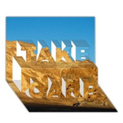 Death Valley Take Care 3d Greeting Card (7x5)  by trendistuff